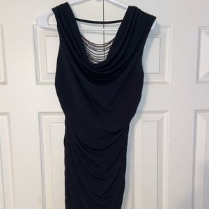 Tight black dress with beautiful back